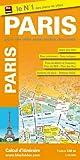 Plan de Paris - Avec localisation des stations V�lib', et plans : du m�tro, des Bus, du RER et du tramway - Echelle : 1/12 000