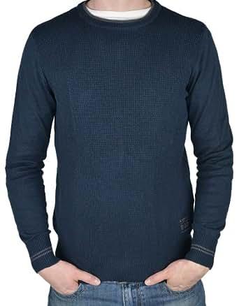 Tom Tailor Pullover dunkelblau strukturiert, Größe:L