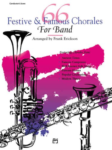 66 Festive and Famous Chorales for Band: Percussion, Snare Drum, Bass Drum, Buch