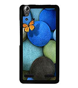 printtech Butterfly Rock Pebbles Back Case Cover for Lenovo A6000 Plus