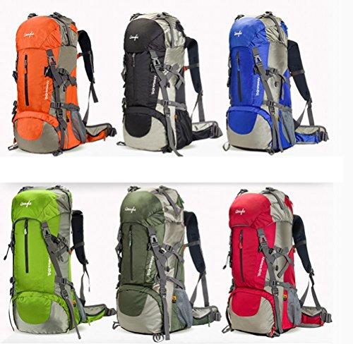 All'aperto alpinismo professionale borse 50L Campeggio femminile di corsa grande capacità impermeabile escursionismo zaino 60L M , green , 60