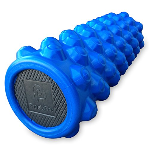Premium Exercise Foam Roller: PhysioPhit High Density, Ultra Durable Foam Roller for Deep Tissue Muscle Massage, 14 x 5 Inches
