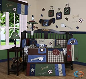 Boutique Classic Sports 13PCS CRIB BEDDING SETs