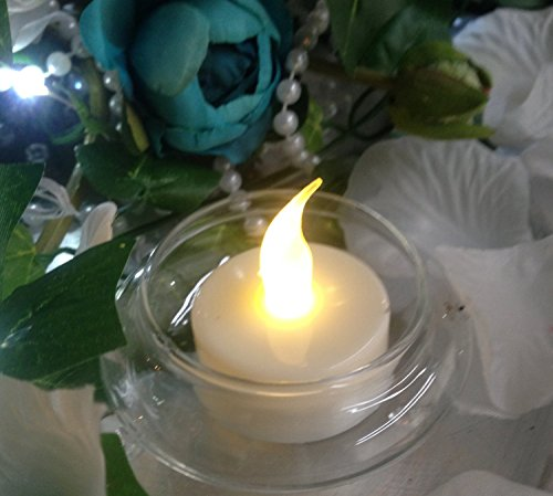 Spring Rose(TM) 12 Battery Operated Flameless Tealight Candles With Timer. These Are Perfect For Party Or Wedding Decorations. These Are On 6 Hours and Off 18 Hours.