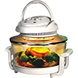 White Halogen Oven Cooker for healthy and fast cooking includes �50 of accessories includes extender ring, lid holder, low rack, high rack, forks, frying pan, steamerby Puregadgets