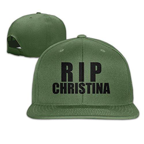 HmkoLo RIPChristina Cotton Flat Bill Baseball Cap Snapback Hat Unisex ForestGreen (Edge Of Heat 6 compare prices)