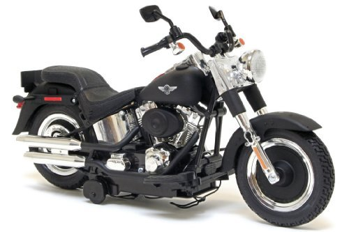 Harley-Davidson Battery Operated Motorcycle Motor Cycles Mighty Bikes - New Bright (Assorted) Softail Or Fat Boy - Harley-Davidson Battery Operated Motorcycle Motor Cycles Mighty Bikes - New Bright (Assorted) Softail or Fat Boy