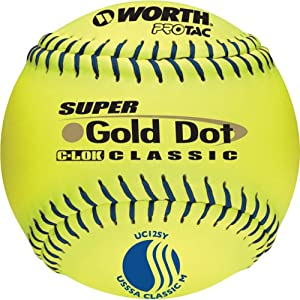 Worth 12-Inch USSSA Stamped Slowpitch UC12SY Optic Yellow Protac Cover Ball (Pack of... by Worth