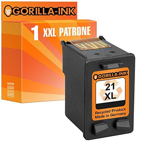 Gorilla-Ink® 1x Tintenpatrone XXL remanufactured für HP 21 XL Schwarz F2250 F2275 F2276 F2280 F2288 F2290 F2291 D2300 D2320 D2330 D2340 D2345 D2360