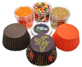 Autumn Leaves Cupcake Kit by Crispie Sweets - Sprinkles and Baking Cups Set
