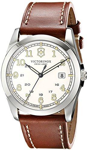 Victorinox 241564 - Reloj de pulsera hombre, piel, color marrón