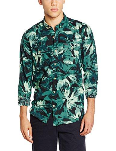 Volcom Not Exactly EVRT S/S - Camicia Maniche Corte da Uomo, Colore Verde, Taglia S