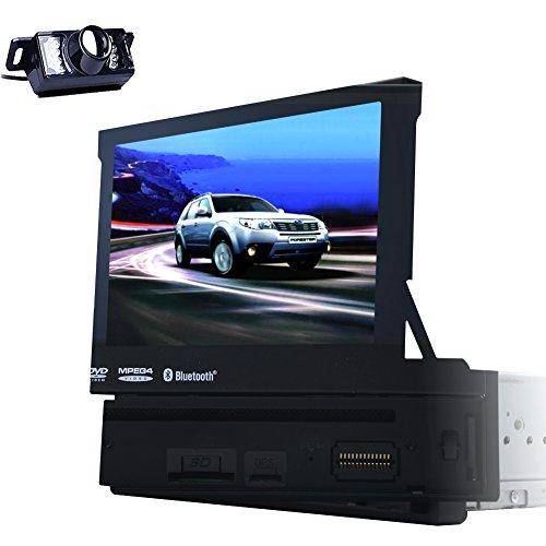 Singolo stereo dell'automobile di baccano GPS Navigation ricevitore digitale con motorizzato da 7 pollici Bluetooth Car lettore DVD LCD Touch Screen