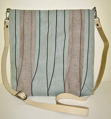 畳へり斜め掛けバッグ 手作りキット ミント×ベージュ 革ショルダー