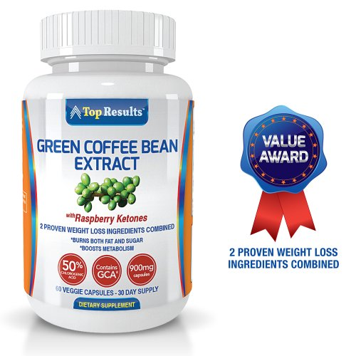 Pure Green Coffee Bean Extract 900mg Pills, GCA® (50% Chlorogenic Acid) Plus Raspberry Ketones - Dr Oz Recommended Natural Organic Ingredients - Ultra Quick Weight Loss Supplements - Lose Weight With Max Strength Fat Burner Diet Pills - GUARANTEED
