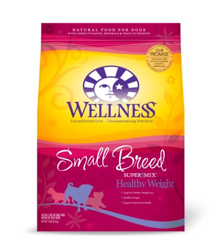 Wellness Super5Mix Dry Dog Food for Small Breed Dogs, Healthy Weight Recipe, 12 lb. Bag