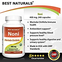 #1 Noni 400 mg 240 Capsules by Best Naturals -- Manufactured in a USA Based GMP Certified Facility and Third Party Tested for Purity. Guaranteed!!