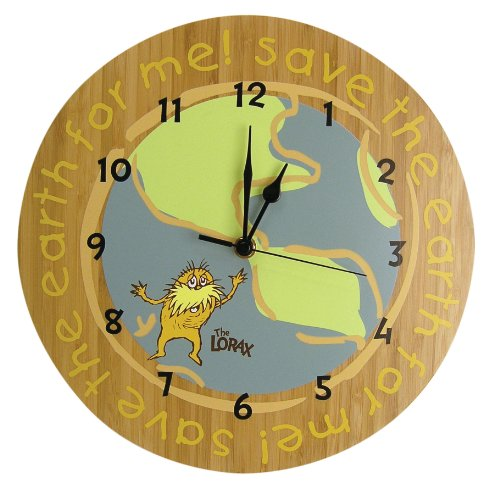 Trend Lab Dr. Seuss The Lorax Wall Clock, Natural