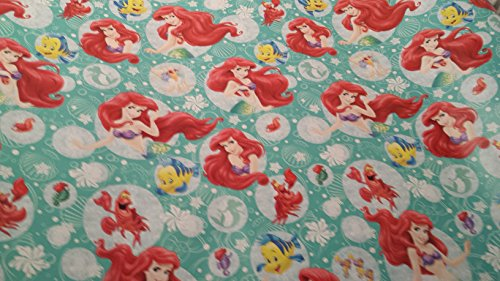 Christmas Wrapping Little Mermaid Holiday Paper Gift Greetings 1 Roll Design Festive Wrap Flounder