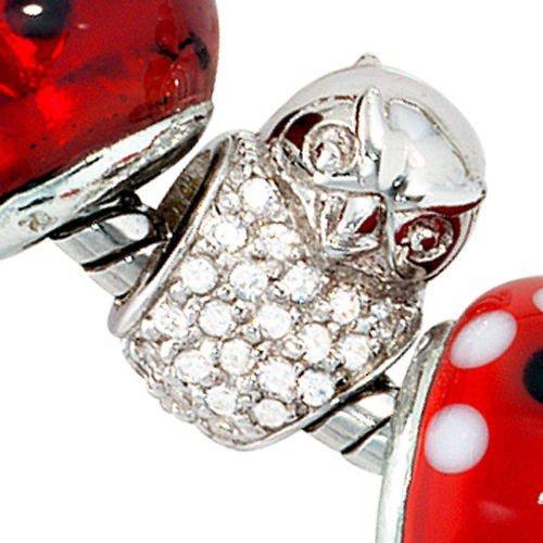Anhänger Eule mit Zirkonia 925 Echt Silber Sterlingsilber für Damen Beads