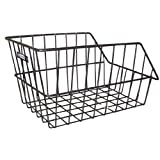 Adie Large Rear Black Wire Cycle Basket + Bracketsby Adie