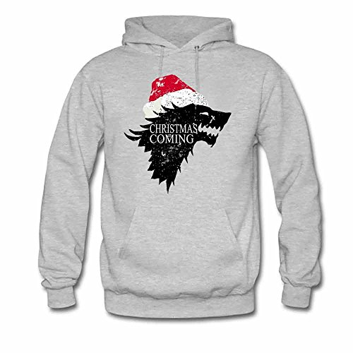 Christmas is Coming Direwolf Logo Women's Hooded Sweatshirt XL
