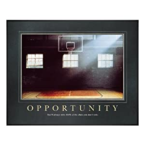 Motivational Basketball Posters on Opportunity Basketball Motivational Poster  Office Products