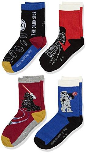 Lego Wear Star Wars Ace 752-Socks 4-Pcs, Calze Bambino, Rosso, 6 Anni ( pacco da 4 )