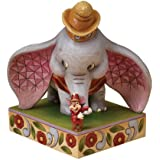 Disney Traditions designed by Jim Shore for Enesco Dumbo with Timothy Mouse Figurine 8 IN