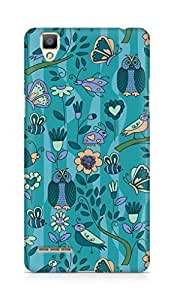 Amez designer printed 3d premium high quality back case cover for OPPO F1 (pattern owl greenary)