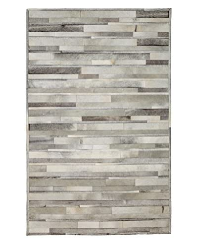 Darya Rugs Natural Cowhide Rug, Grey, 5' 4 x 8' 3