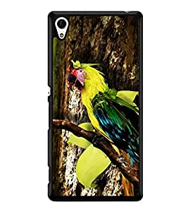 printtech Wild Colorful Parrot Tree Back Case Cover for Sony Xperia Z3 Plus , Sony Xperia Z3+