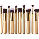 XCSOURCE® 10PCS Professional Pro HQ Brosses de Maquillage Brush Set Cosmétique Maquillage Alliant Correcteur de Fard à Paupières de Sourcil de la Fondation de Poudre d'ombre Cosmétiques Outils Kit MT125