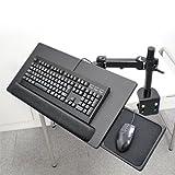 リストレスト・マウステーブル付き 大型キーボードアーム Donyaダイレクト DN-ARM332KDB