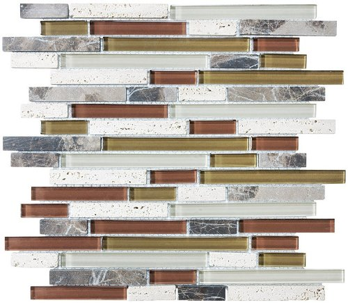Bliss Glass and Stone Mosaic Tile