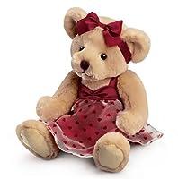 Claudette Burgundy Dress Teddy Bear by Russ Berrie