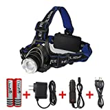Amerzam LED Headlamp,Waterproof & lightweight Camping outdoor sports Headlight with usb Cable