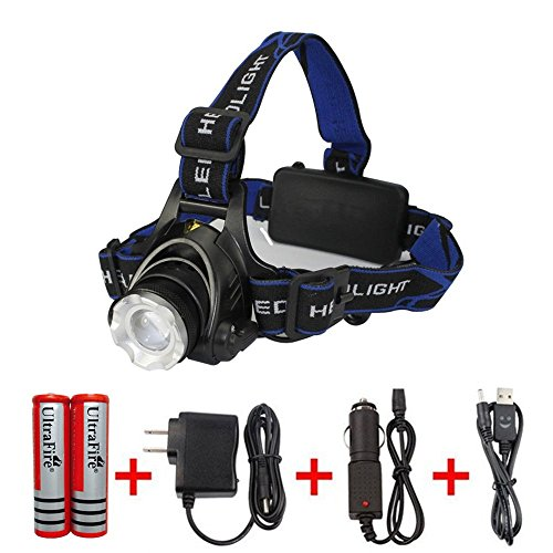Amerzam LED Headlamp,Waterproof & lightweight Camping outdoor sports Headlight with