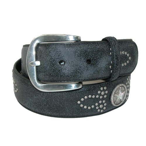 Roper Womens Leather with Conchos Removable Buckle Belt, Medium, Black