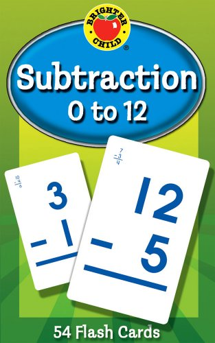 Subtraction 0 to 12 Learning Cards (Brighter Child Flash Cards) - Brighter Child
