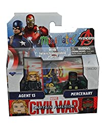 Minimates Captain America Civil War-Agent 13 & Mercenary