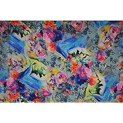 Aagaman Fashions Crape Fabrics (TSFD018_Royal Blue)