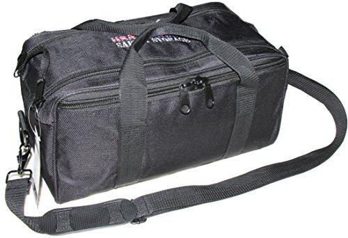 USA GunClub Range Bag with Removable Hook & Loop Dividers, Black, Medium (Lockable Range Bag compare prices)