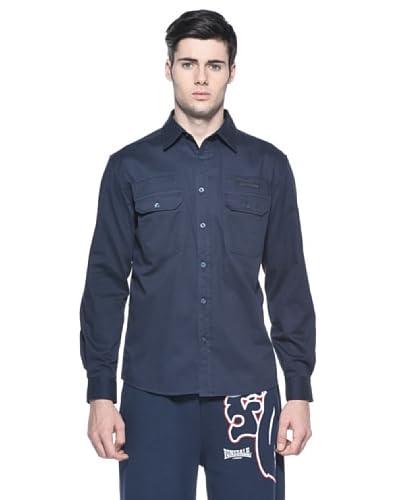 Lonsdale Camicia Uomo Darlington [Blu Scuro]