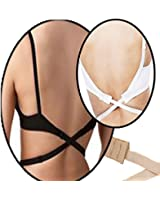 BACKLESS LOW BACK BRA STRAP CONVERTER EXTENDER - Choose your colour WHITE - BLACK or NUDE or PACK OF 3 SAVE ££'s BUY ALL 3 COLOURS (ROYAL MAIL 1st CLASS FREE POST UK SELLER) ORDER BEFORE 12pm SENT SAME DAY
