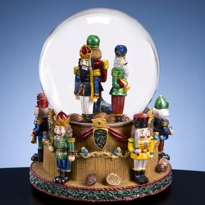 The San Francisco Music Box Company Christmas Nutcracker Soldiers Snow Globe