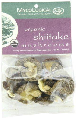 Mycological Dried Organic Shiitake Mushrooms, 1 Ounce Package