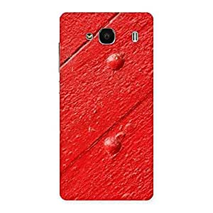 Impressive Red Texture Wood Print Back Case Cover for Redmi 2