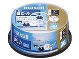 日立マクセル 録画用ブルーレイディスク BD-R 130分 (1~4倍速対応) インクジェットプリンター対 BR25VFWPB.30SP