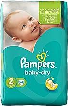 Pampers Windeln Baby Dry Gr. 2 Mini 3-6 kg Sparpack, 2er Pack (2 x 42 Stück)